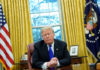© Reuters. U.S. President Donald Trump sits for interview with Reuters at the White House in Washington