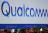 © Reuters. FILE PHOTO: The logo of Qualcomm is seen during the Mobile World Congress in Barcelona