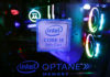 © Reuters. The Intel logo is seen on a computer at the Thailand Game Show 2018 in Bangkok