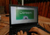 © Reuters. Employee shows an advertisement for Careem on a laptop in his office in the West Bank city of Ramallah