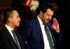 © Reuters. FILE PHOTO: Interior Minister Matteo Salvini gestures next to Italy