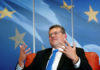 © Reuters. EU Commission Vice President Sefcovic speaks during an interview with Reuters in Brussels