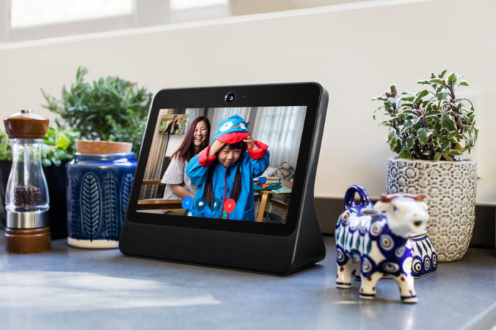 © Reuters. A smart speaker device by Facebook Inc. called Portal