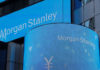 © Reuters. A sign is displayed on the Morgan Stanley building in New York