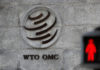 © Reuters. FILE PHOTO: The logo of the World Trade Organization (WTO) at its headquarters next to a red traffic light in Geneva