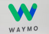 © Reuters. The Waymo logo is displayed during the company