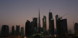 © Reuters. View of Burj Khalifa the tallest building from the Business Bay area in Dubai