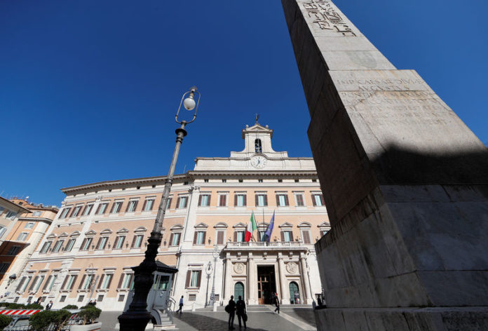 © Reuters. The Italian Parliament is pictured in downtown Rome