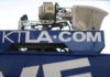 © Reuters. FILE PHOTO: A Tribune Broadcasting Los Angeles affiliate KTLA 5 television satellite truck is seen in Hollywood, Los Angeles