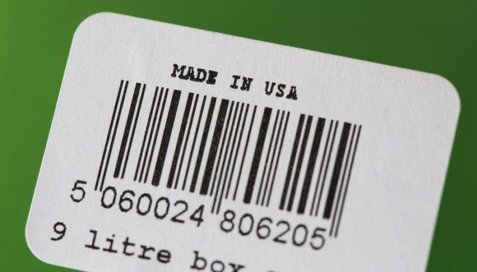 © Reuters. A barcode label with